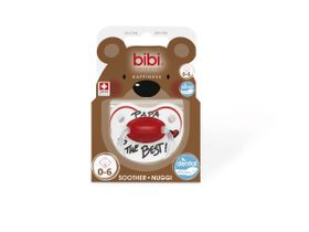 Bibi - Soother Silicone - Papa Is The Best - 0-6 Months